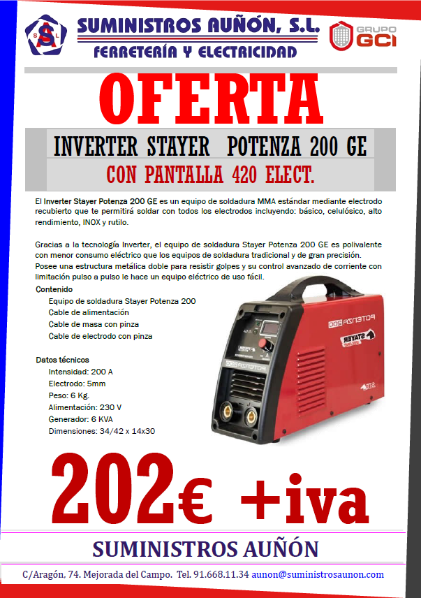 INVERTER STAYER POTENZA 200GE
